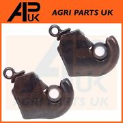 2 X Cat 2 Link Quick Hitch Ball Weld On End For Zetor Leyland Deutz Tractor