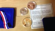 3 Statue Of Liberty Coins 1986 Centennial Recycled Copper Over Silver
