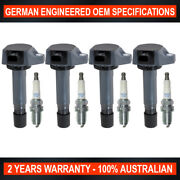 Set 4 Swan Ignition Coil And Ngk Iridium Spark Plugs For Honda Civic 1.8l R18a
