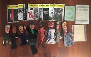 8 Vintage Wooden Puppet Punch And Judy Lot 21pcs Total Playbills 1916