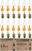 12 Pack Flickering Light Bulbs Replacement Petite Chandelier Candle Bulb E12 3w