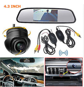 4.3lcd Mirror Monitor+ Wireless Backup 360° Rotatable Camera For Parking System