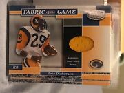 Eric Dickerson 2002 Leaf Certified Fabric Of The Game Jersey Rams 38/50 Made