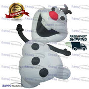 10ft Outdoor Inflatable Olaf Snowman Christmas Air Blown With Air Blower