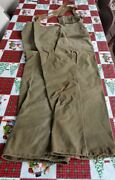 Ww2 Usn U.s. Navy Bibs Overalls Foul Weather Gear Cold Weather Trousers Medium