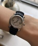 Chopard Happy Sports 27/8245-23 Womanandrsquos Ss Leather Wrist Watch Great Condition