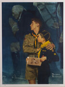 Signed Norman Rockwell Our Heritage Print 33 X 24 Framed.