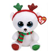 Ty Beanie Boo 2018 Frost The Christmas Bear 9 Size Claire's Exclusive