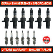 6x Ngk Platinum Spark Plugs And 6x Swan Ignition Coils For Jaguar X-type X400