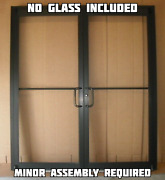 Commercial Aluminum Storefront Double Door Frame And 2 Closer 6and0390 X 7and0390 Bronze