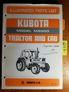Kubota M8950 Tractor And Cab Illustrated Parts List Manual 07909-52770 6/85