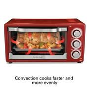 Small Countertop Convection Oven Rotisserie Baking Kitchen Appliance Compact