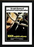 2001 Space Odyssey Space Station Framed Movie Poster Print 15x20