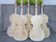 10pcs Unfinished Violin 4/4 Flame Maple Back Russian Spruce Top Hand Made