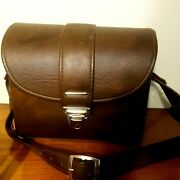 Vintage Leather Camera Case Brown - Fidelity Los Angelus Made 275