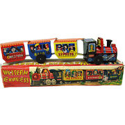 Western Express Train Tin Wind-up Toy - 1950's - Mint In Box