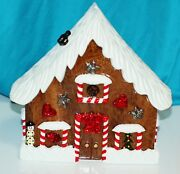 Timmy Woods Minaudiere Shoulder Bag Gingerbread House Cookie Bag Purse Christmas