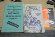 Original Triumph T15 Terrier Unissued Ownerand039s Packet Including Service Manual