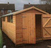 Pinelap Wooden Workshop Heavy Garage Apex Or Pent Shed 20x8 Tandg Outdoor Store