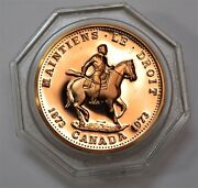 1873-1973 Royal Canadian Mounted Police Copper Medal Token Canada Coin 19634d