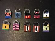 Disney Pwp Magical Mystery Locks Serie Complete Pins Set Stitch Cheshire Cat