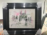 Purvis Young Tank Colorful Authentic Framed Certificate Unique Original Signed