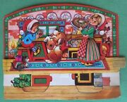 Vintage Christmas Advent Calendar 3-d Paper Denmark Gemo 1970and039s/80and039s
