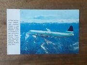 Rare Teal Jet Prop New Zealand Airways Airliner Real Photo Postcards F1p6