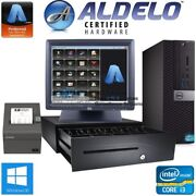 Aldelo Pro Burger Shop Dell Pos Complete Pos System I3 Cpu 4gb Ram Free Support