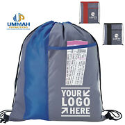 100 Personalized Polyester Clear View Drawstring Backpack Printed W/ Logo / Text