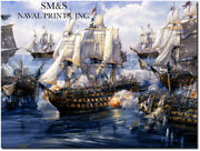 The Nelson Touch - Tom Freeman - Hms Victory Naval Art Artistand039s Proof