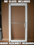 Commercial Aluminum Storefront Door Frame And Closer 3and0390 X 7and0390 White Finish