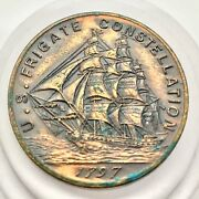 1797 First Ship Of Us Navy Souvenier Medal U S Frigate Constellation Coin