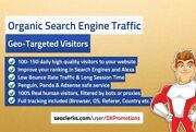 Organic Keyword Targeted Search Engine Traffic With Low Bounce Rate
