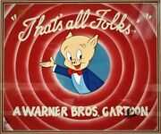 And039thatand039s All Folksand039 Limited Edition Cel 81/500 Signed And039friz Frelengand039 Porky Pig