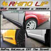 Rocker Panel Side Skirt Entry Sill Guard Covering Chin Lip Trim Extension Add-on