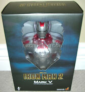 2010 Hot Toys 1/4th Scale Iron Man 2 Movie 9 Mark V 5 Bust Canadian