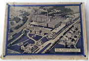 Vintage Home Of Hershey Milk Chocolate Almond Candy Bar Box Map Photo Factory