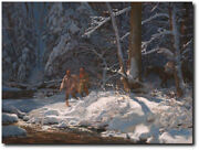 Almost Quiet By John Buxton - Native People - Wilderness - Indian Art - Canvas