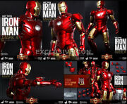 Hot Toys 1/6 Mms256-d07 Iron Man Mark Iii Diecast Exclusive Sealed In Brown Box