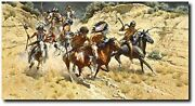 The Decoys By Frank C. Mccarthy - Plains Warriorand039s - Combat - Indian Art