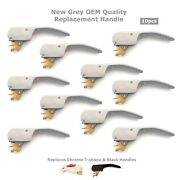 217/00059/00p Grey Door Handle Oem Quality For Ipso Washer Replaces Black 10pk