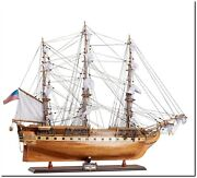Wooden Model Ship - Uss Constitution Exclusive Edition - Marine Decor