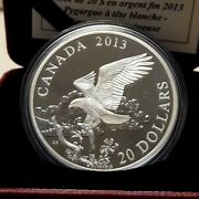 2013 Canada 20 Fine Silverthe Bald Eagle- Returning From The Hunt