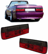 Clear Tail Lights Lamps For Bmw E30 1983-8/1987 + Cabrio Pre-12/1990