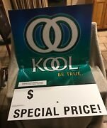 New Kool Cigarette Advertising Materials - Large Corrugated Sign.