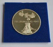 1975 Hungary 200 Forint Proof Silver 150th Anniversary Of Liberation Medal/coin
