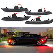 For 16-18 Chevy Camaro Smoked Len Led Side Marker Front And Rear Set Chevrolet Red