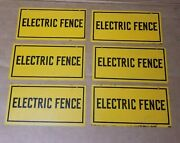 Vintage Electric Fence Cow Pig Horse Farm Feed Seed Gas Oil Metal Sign 1 One