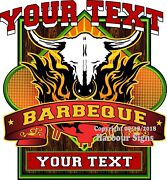 Custom Barbecue Your Text Decal Choose Your Size Bbq Truck Concession Sticker